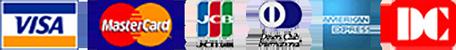 VISA / MASTER / JCB / AMERICAN EXPRESS / Diners Club / DC